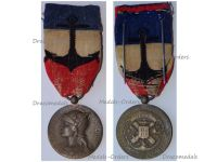 France WW1 French Navy Civil Personnel Bronze Medal of Honor for 30 Years Service Named 1922 by Paris Mint