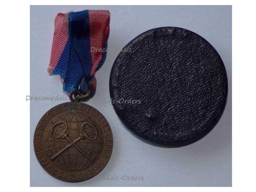 France Golden Keys Medal Clefs d'Ore III Congress Paris 1955 Decoration French Association Hotel Concierges boxed