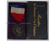 France Commerce Industry Silver Medal Labor Civil 1908 Decoration French Award 20 years service 3rd Republic boxed