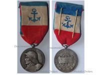 France WW2 Merchant Navy Medal 3rd Type in Silver by Paris Mint Named to H. Degou 1944