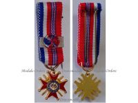 France Britain WW2 Franco British Association Commander's Cross Military Medal French Decoration 1939 1945 1st Type Miniature