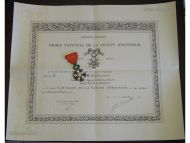 France WW2 Order Legion Honor Knight's Cross Captain Infantry KIA 1943 Military Medal Diploma 1945 WWII