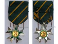 France WW2 Order Combatant Merit Knight's Cross 1953 1963 Military Medal French Republic Decorarion Award by Muller & Delande