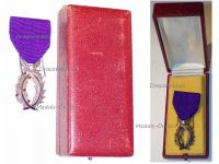 France WW1 Order Academic Palms Knight's Medal WWI 1914 1918 French Decoration Civil Merit Great War Luxurious Type Boxed