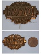 France Badge French 1970 Tinnie Charles de Gaulle Death Insignia Medal pin French Insignia Decoration Award