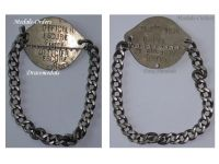 France WW1 Military Officer Dog Tag Identification French WWI 1914 1918 Insignia Great War