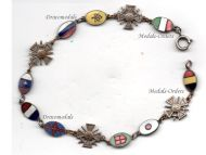 France WW1 Entente Allied Powers Flags War Cross Patriotic Bracelet Croix de Guerre WWI 1914 1918 Decoration French Great War