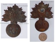 France WW1 Emblem Badge RF for the Adrian Helmet M15 1915 for Infantry & Cavalry Regiments
