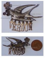France WW1 Verdun Swallow Patriotic Badge