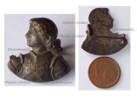 France WW1 Patriotic Badge Joan of Arc Bust
