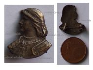 France WW1 Patriotic Badge Joan of Arc Bust