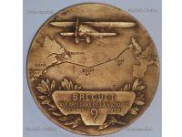 France 1st North Atlantic Flight Medal Transatlantic Paris New York Breguet 19 Super Bidon Point D'Interrogation Aviation French 1930 Decoration