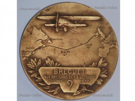 France 1st North Atlantic Flight Medal Transatlantic Paris New York Breguet 19 Super Bidon Point D'Interrogation Aviation French 1930 Decoration