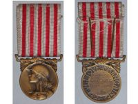 France WW1 Commemorative Military Medal WWI 1914 1918 French Decoration Great War Service Delande