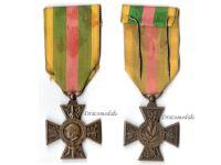 France WW1 Volunteer Combatants Cross 1914 1918 Large Head Type
