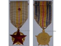 France WW1 Wound Military Medal Red Star Great War 1914 1918 French Badge Wounded Decoration 2nd Type Circular Marked