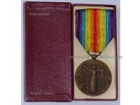France WW1 Victory Military medal 1914 1918 Interallied Charles WWI Decoration French Great War Award Boxed