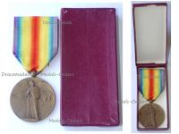 France WW1 Victory Interallied Medal by Pautot Mattei Laslo Unofficial Type 2 Boxed