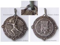 France WW1 Silver Victory Medal Military Hospital N.120 Numbered #4 1914 1916 by Gardet