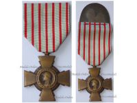 France WWI Combatants Cross by the Paris Mint on 1st Type Mounting Bar