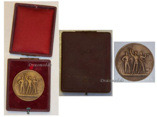 France WW1 Bronze Medal for Military Preparation and Readiness by Bertrand Boxed