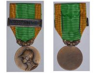 France WW1 Medal for the Volunteers of the Great War with Clasp Engage Volontaire for Voluntary Enlistment Unifacial Type