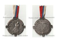 """France WW1 Patriotic Medal for the Support of Serbia """"Glory to the Serbs 1916"""" by Bargas"""