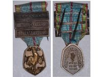 France WW2 Commemorative Medal 1939 1945 with 3 Clasps (France, Liberation, Defense  Passive) by the Paris Mint