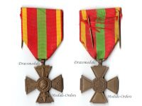 France WW2 Cross Volunteer Combatants Military Medal French Decoration WWII 1939 1945 Award Small Head