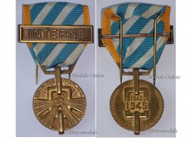 France WW2 Medal Deportation Internment  Bar Internee WWII 1939 1945 Decoration French Award