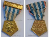 France WW2 Medal Deportees Internment Resistance Bar Deportee WWII 1939 1945 Decoration French Award Gilt Type