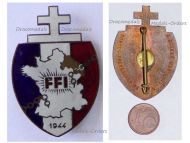 France WW2 Free French of Interior FFI Region C Badge Resistance Numbered