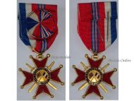 France Britain WW2 Franco British Association Officer's Cross Military Medal French Decoration 1939 1945