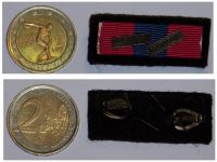 France Bronze National Defense Medal Ribbon Bar with Clasps Infantry & French Occupation Forces in Germany