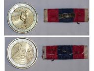 France National Defence Silver Military Medal ribbon bar Infantry French Decoration Award