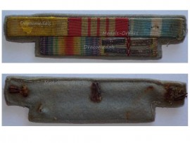 France WWI Victory WWII Valor Discipline War Cross Colonial Commemorative Medal Ribbon Bar 4 bars Africa Italy Liberation Germany