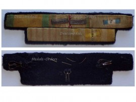 France WWII Valor Discipline Combatants Cross Colonial Indochina Commemorative Medal Ribbon Bar 2 bars Africa