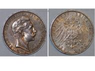 Germany 3 Mark Coin 1911 A Prussia German Empire Kaiser Wilhelm II Berlin Mint