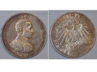Germany 5 Mark Coin 1914 A Prussia German Empire Kaiser Wilhelm II Berlin Mint
