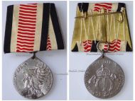 Germany South West Africa Colonial Medal Steel for Non Combatants of the Herero Mamaqua Rebellion 1904 1906 by Schultz on Large Bar