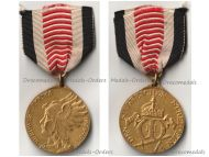 Germany South West Africa Colonial Medal Bronze Gilt for Combatants Herero Mamaqua Rebellion 1904 1906 by Schultz