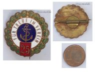 Germany WW1 Imperial Navy War Veterans Association Fleet badge brooch pin War WWI 1914 1918 Decoration