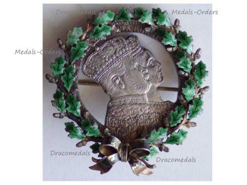 Germany Prussia Patriotic Brooch Coronation Kaiser Wilhelm Queen Augusta 1861