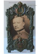 Germany WW1 Patriotic Frame Imperial Eagle Bavaria Iron Cross Photo Austro-Hungarian Officer Colonel KuK Military WWI 1914 1918 Great War