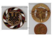 Germany WW1 Prussian Eagle German Colors Cap Badge WWI 1914 1918 Prussia German Patriotic Decoration Great War