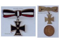 Germany WW1 Iron Cross 1914 EK1 Patriotic Badge Military Medal pin Imperial Colors Ladie's Bow Tie German Great War 1918