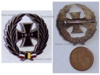 Germany WW1 Iron Cross EK1 Patriotic Cap badge German Austrian Colors 1914 Great War 1918 by Komerell