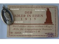 """Germany WW1 Patriotic Medal for the Aid & Relief of the German Prisoners of War in Captivity """"The Eagle in Chains 1915"""" with Diploma"""
