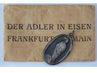 """Germany WW1 Patriotic Medal for the Aid & Relief of the German Prisoners of War in Captivity """"The Eagle in Chains 1915"""" with Envelope"""