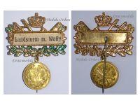 Germany WW1 Prussia Recruitment Territorial Army Commemorative Badge Kaiser Wilhelm Patriotic 1914 1918 Decoration German Great War